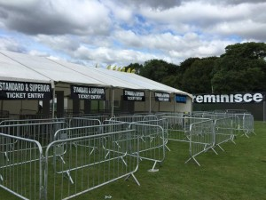 Our archway metal detectors installed at a major clubland festival in September 2015.